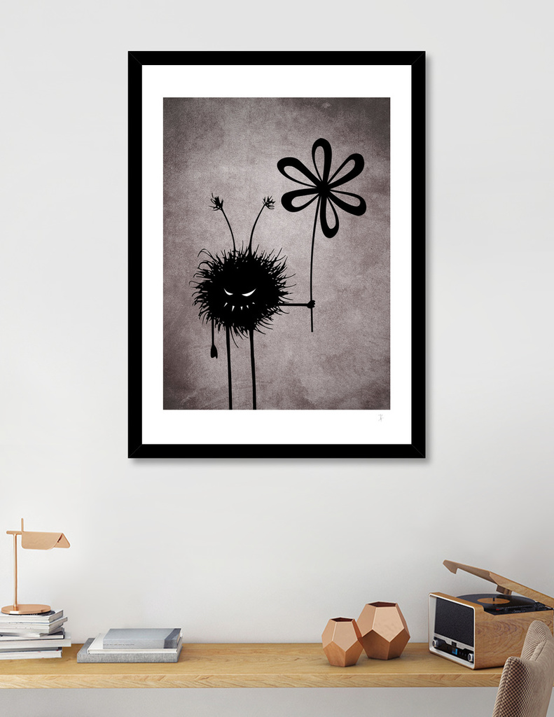 Evil lFlower Bug art print at Curioos, in situ
