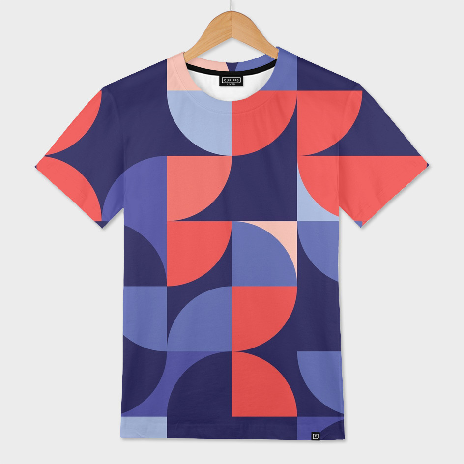 Geometric Design 38 Mens All Over T Shirt By Madeleine Hettich