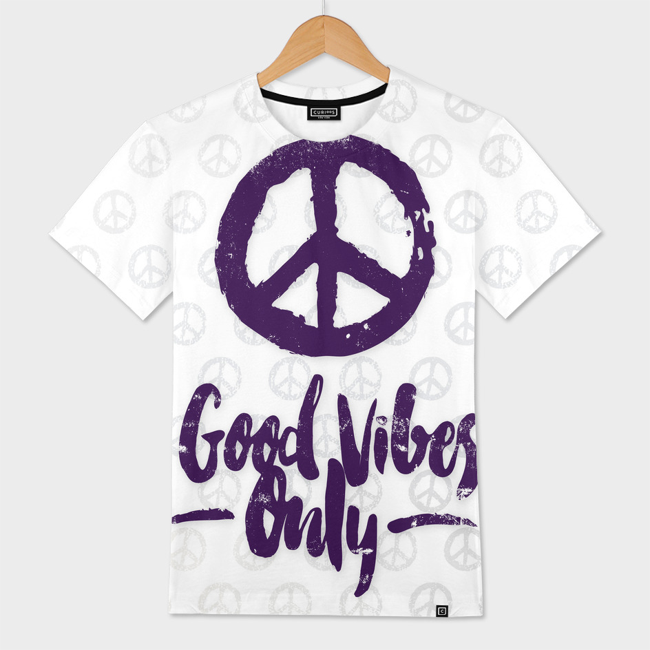 82c659791 Good Vibes Only - Hand Lettering» Men's All Over T-Shirt by Chilling ...