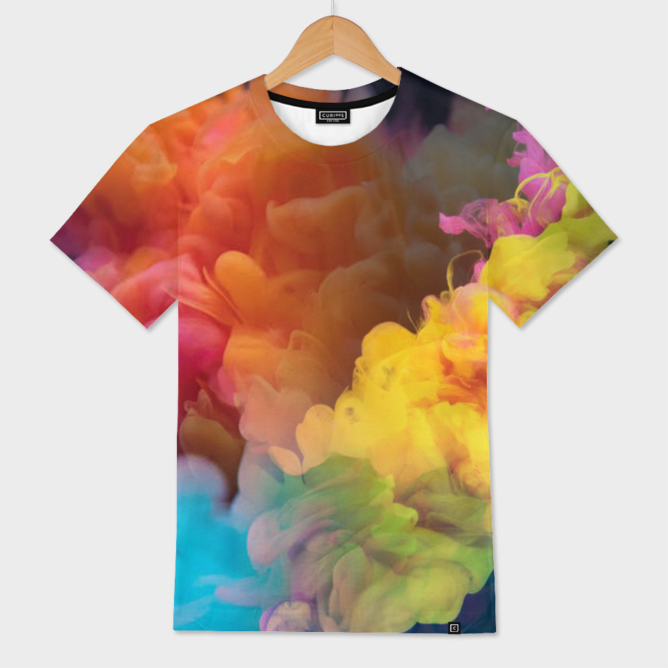 Colorful Smoke Abstract Mens All Over T Shirt By Color Me Girly