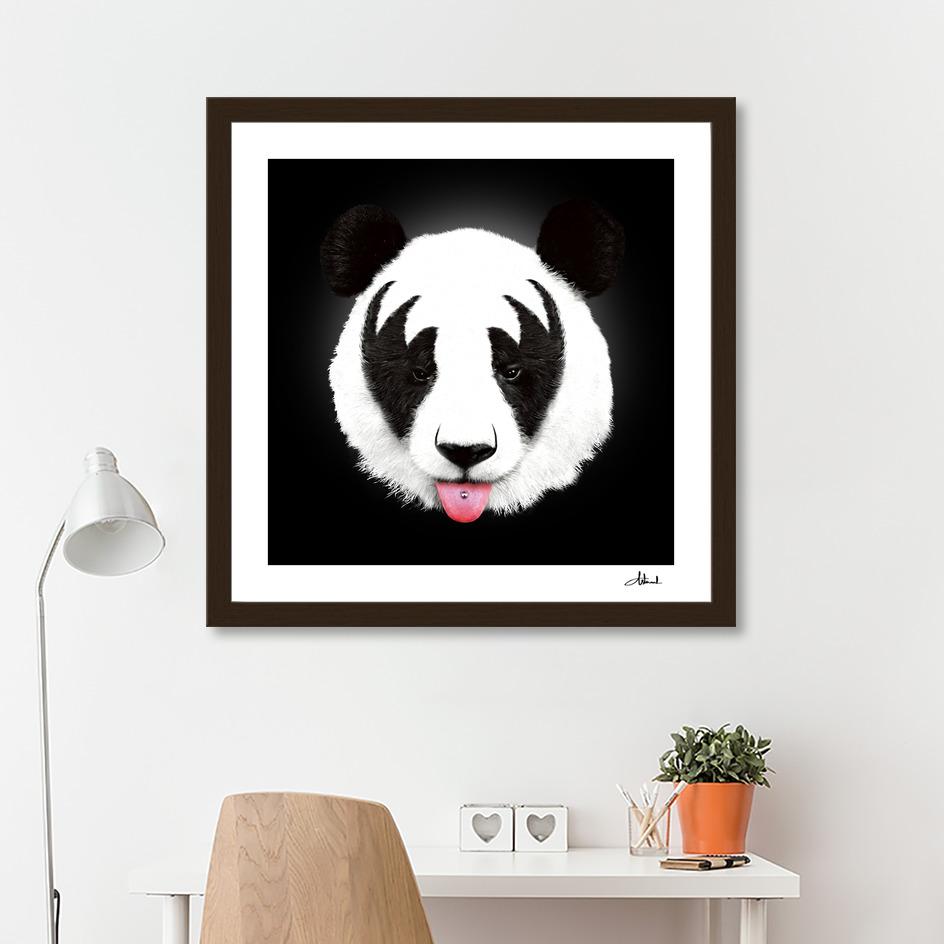 Kiss Of A Panda Art Print By Robert Farkas Curioos